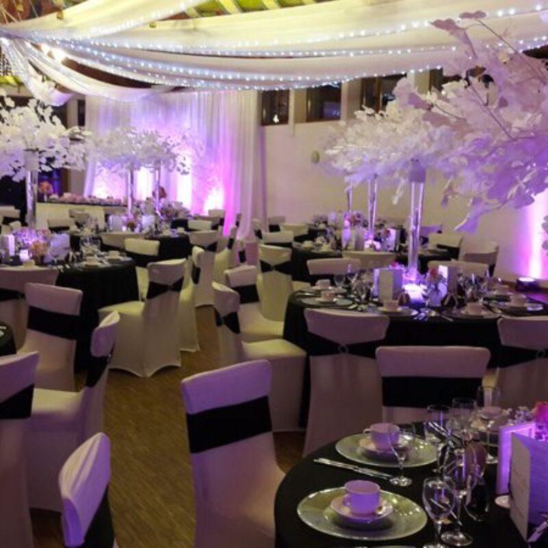 dekofee_lena_Hochzeitsdeko_schwarz_weiss_ginkgo_aeste_flutevase